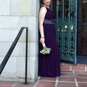 Dresses & Skirts - BEAUTIFUL FLOOR LENGH DARK PURPLE GOWN